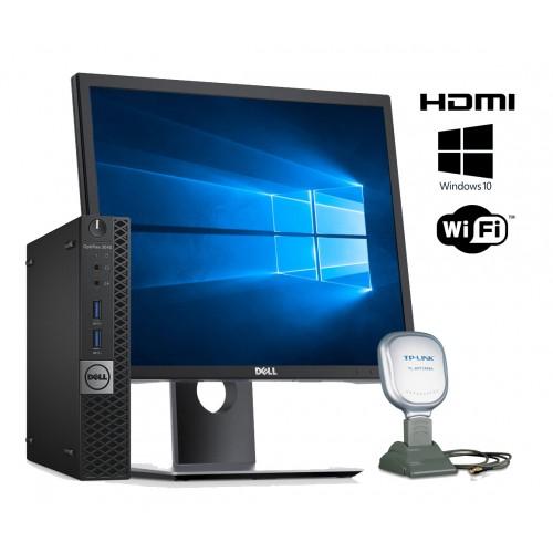 Dell Optiplex 3040 Micro i3/8GB/256GB + Monitor Dell Pivot 19 pulgadas