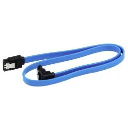 Cable de SATA 3 III 6GB/s Ángulo Recto Disco Duro HDD SSD Azul
